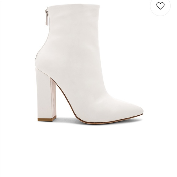 Raye Parker Boot white patent leather size 6